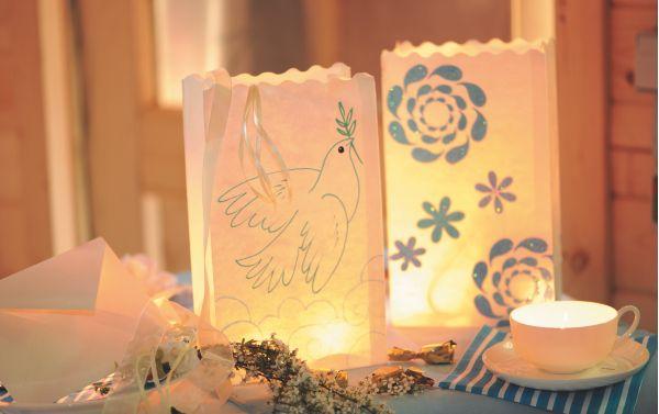 Glanzvolle Dekoration für Taufe, Kommunion und Konfirmation