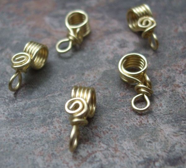 PurpleLily Designs, Handmade Wire Bails(sterling silver, Copper, & Brass) - photos - quite nice and inexpensive