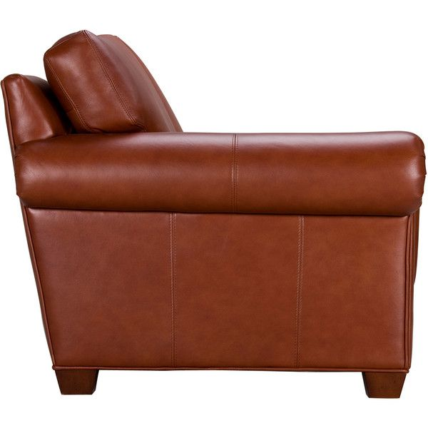 Ethan Allen Conor Leather Sofa, Omni/Brown ($3,042) ❤ liked on Polyvore featuring home, furniture, sofas, chairs, brown sofa, brown leather couch, brown couch, ethan allen furniture and ethan allen couches