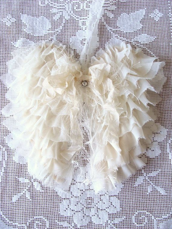 Hey, I found this really awesome Etsy listing at https://www.etsy.com/listing/164588489/shabby-fabric-angel-wings-french-country