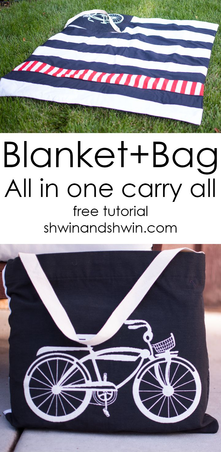 Blanket+Bag All in One || Square by design fabric (via Bloglovin.com )