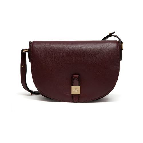 Mulberry - Tessie Satchel in Oxblood Soft Small Grain