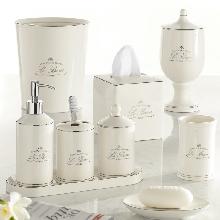 Genial Le Bain Accessories By Kassatex, Cotton Jar   Top Grade Porcelain