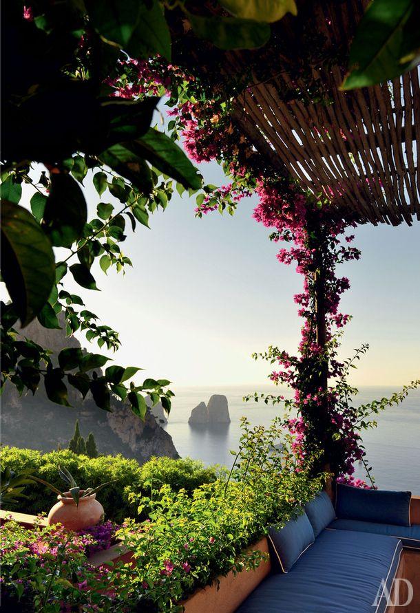Дом на берегу острова Капри   AD Magazine