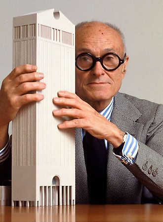 Philip Johnson, who designed one of my fave buildings in NY. The broken pediment up top reminds me of all the furniture in the Abella household. Hahaha.  (It's the AT&T/Sony HQ building on Madison.)