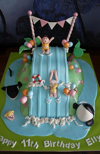 Fun Waterslide Cake