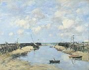 "New artwork for sale! - "" The Entrance To Trouville Harbour by Eugene Boudin "" - http://ift.tt/2o6Lwj6"