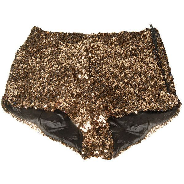 The French Connection Sequin Shorts feature an all over tiger patterned sequin design. The shorts are high waisted hot pants/knickers with a contrast side zip.…