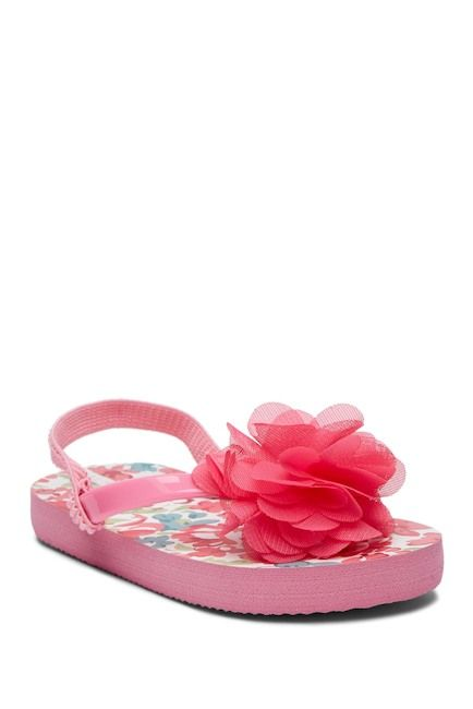 9737194b80459 Image of Laura Ashley Floral Applique Flip Flop Sandal (Toddler   Little  Kid)