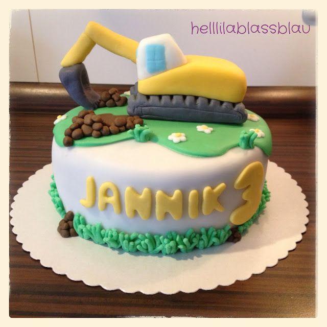 Die Torte war für den kleinen Jannik, er ist 3 Jahre geworden und liebt Bagger. Die Zeit war knapp, genau eine Woche vor seinem Geburtstag h...