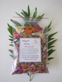 Pretty Petals are a colourful blend of gorgeous, fragrant petals to scatter on top of your bath water (perfect to use in conjunction with Postnatal Bliss Bath Herbs). Use whenever extra pampering and luxury is required. Pretty petals add splashes of gorgeous colour and have become popular for use during the newborn photography session, with mother and baby enjoy a herbal bath together.