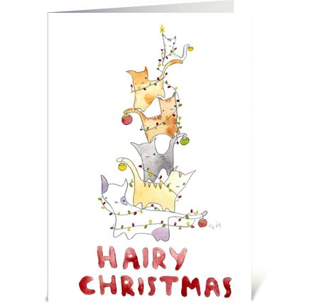 51 best charrows greeting cards images on pinterest greeting hairy christmas greeting card m4hsunfo