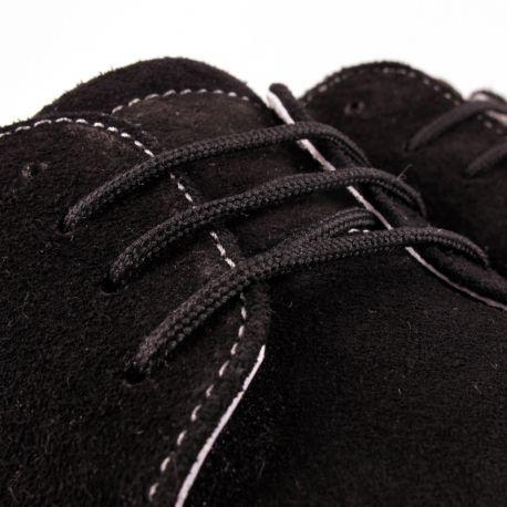 Pantofi fara toc piele intoarsa negri ZAMA0007