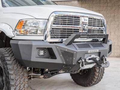Go Rhino - Go Rhino 24219T BR10 Winch Front Bumper Dodge RAM 2500/3500 2010-2016