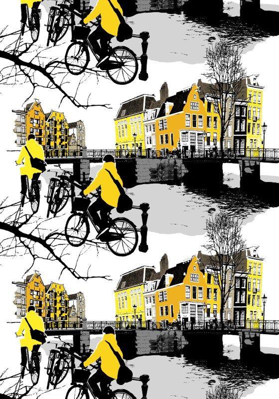 Amsterdam, yellow by Riina Kuikka