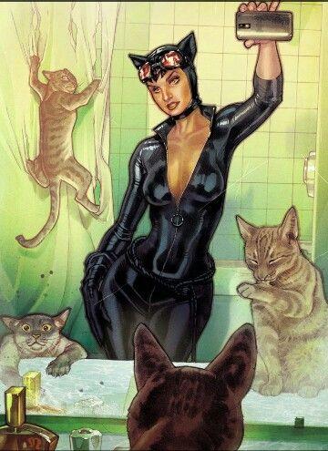 Catwoman Selfie