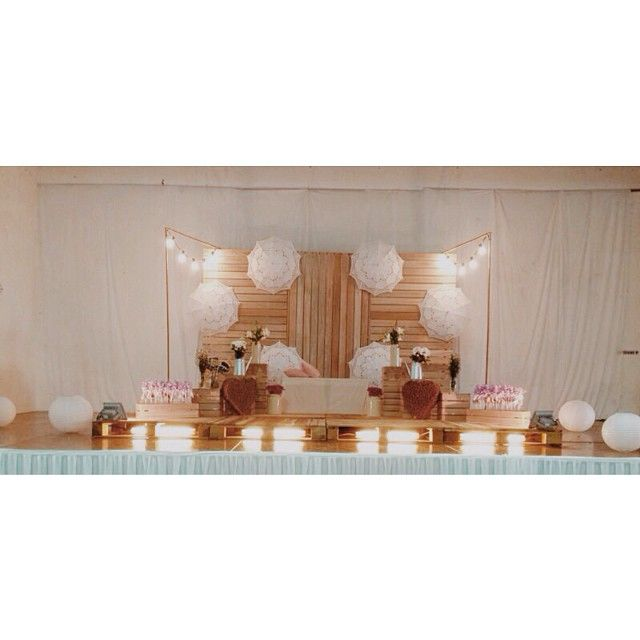 , pelamin, wedding dais, dais, diy, pallet, rustic wedding, malaysia ...