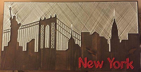 NYC Skyline String Art