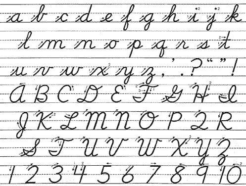 cursive writing exercise