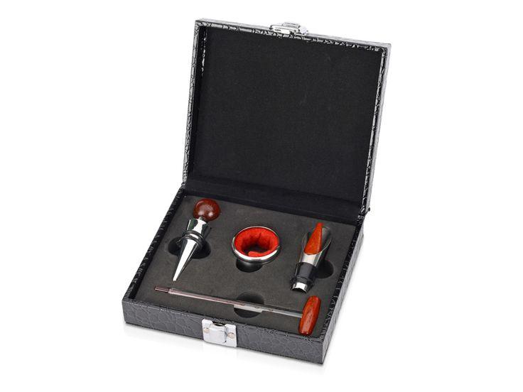 """Подарочный набор для вина """"Плимут"""" Компактный набор для вина включает в себя только самые необходимые приспособления, позволяющие в полной мере насладиться ароматным и вкусовым букетом изысканного вина."""