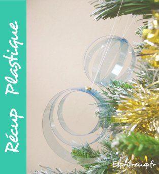 boule de sapin de noel en bouteille en plastique récup recyclage bricolage à faire soi même