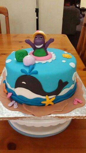 Barney the dinasour Borthday Cake
