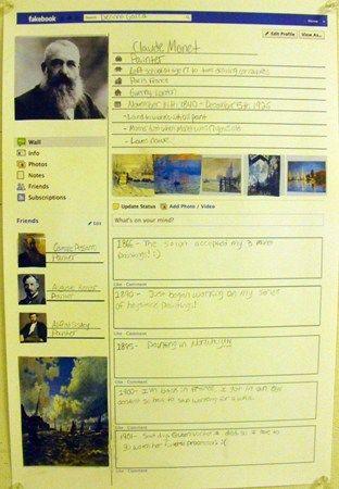 Fakebook: Great Artists - weer eens een andere manier om te laten zien wat je geleerd hebt...
