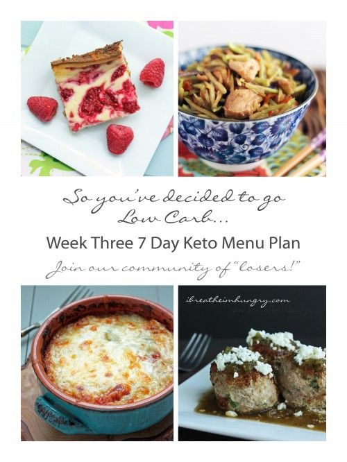 Week Three Free 7 Day Keto, Atkins, and Low Carb Diet Menu Plan, shopping and prep list from ibreatheimhungry.com