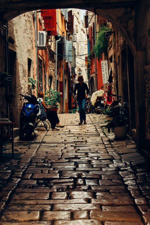 Porec, Croatia narrow street