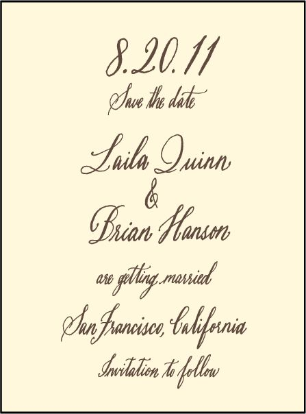 Letterpress Wedding Save the dates | Belle Calligraphy Design | Bella Figura Letterpress
