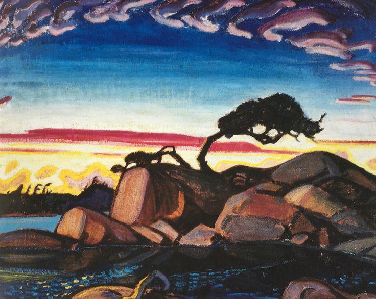 """Evening Silhouette"", Arthur Lismer 1928"
