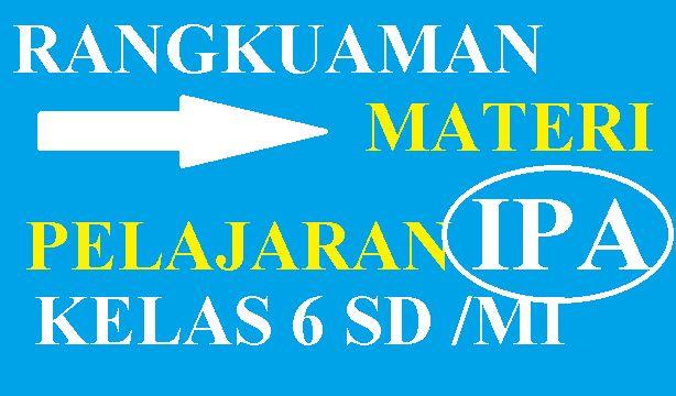 Rangkuman Materi Ipa Kelas 6 Kelas Enam Ipa Buku Catatan Matematika