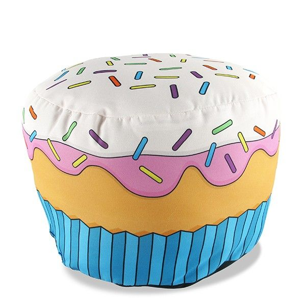 Almofada Formato Cupcake Morango