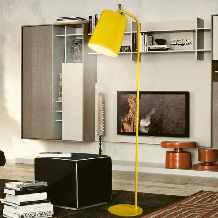A1Nodic Iron Floor Lamp Simple For Bedroom Living Room Lamp Lights Study  White/black/ Part 94