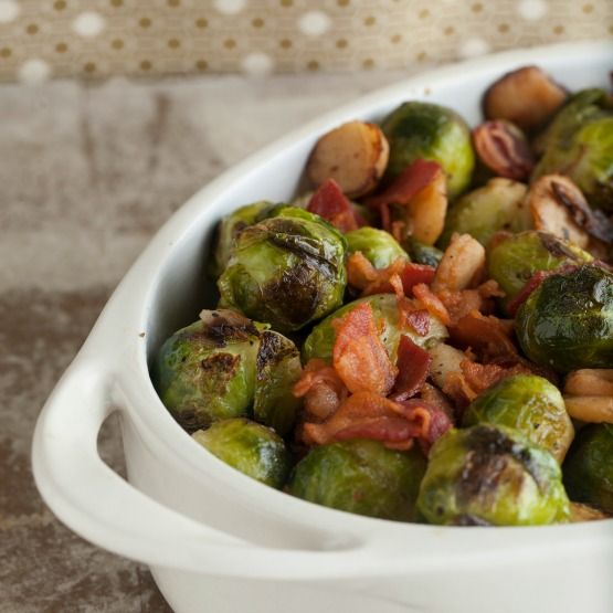 with water chestnuts and bacon? Buttery and tender Brussels sprouts ...