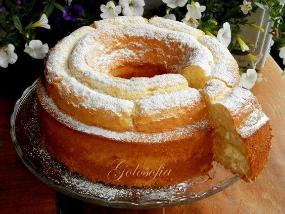 Ciambella allo yogurt e limoncello-ricetta torte-golosofia - Donut yogurt and limoncello recipe-cake golosofia
