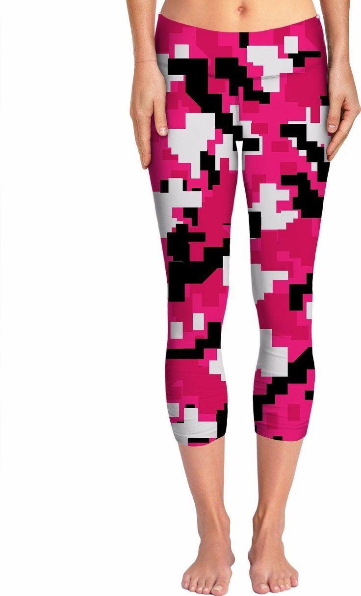 Pink Digital Camo Yoga Pants