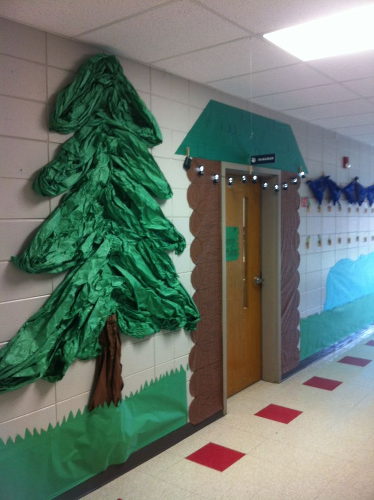Classroom Christmas Design ~ Camp hallway decoration camping theme pinterest