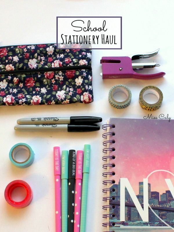 Back to school stationery haul! - Miss Caly