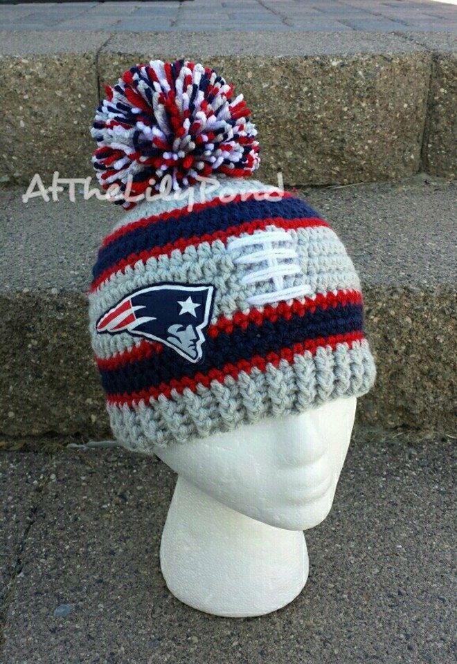 New England Patriots, New England Patriots Baby, New England Patriots Kids, New England Patriots Hat, Patriots Baby, Crochet Winter Hat by AtTheLilyPond on Etsy https://www.etsy.com/listing/452671744/new-england-patriots-new-england