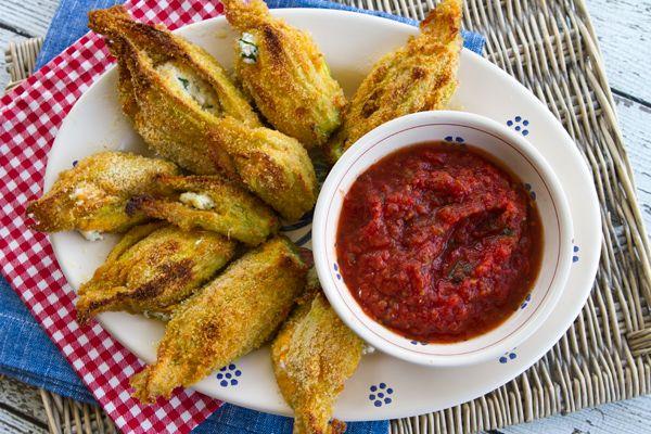 Baked Ricotta Stuffed Zucchini Flowers