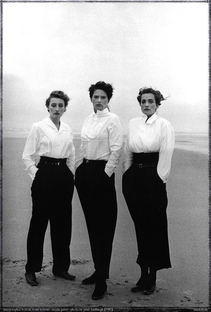 Marie-Sophie Wilson & Lynne Koester & Tatjana Patitz - Le Touquet - 1987 Photos PETER LINDBERGH