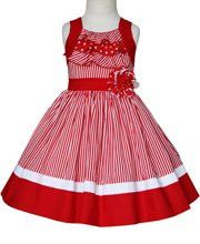 Victoria Girls Red Party Summer Dress