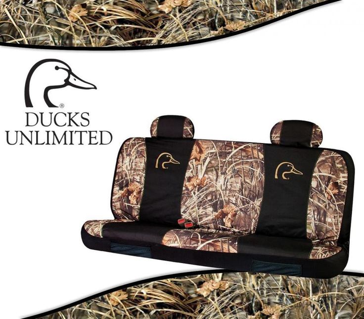 DUCKS UNLIMITED Camo Universal Seat Covers For Full Size Bench Seats In RT MAX4 TrucksTruck