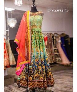 Fancy Orange designer Gown  http://www.kmozi.com/fancy-orange-designer-gown-887