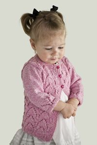 Arches Baby Cardigan designed by by Diane Zangl for Cascade Yarns. Pattern