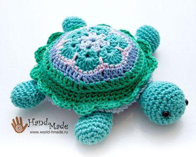 TrisTrasCreativa: Una tortuga de colores. Patrón gratuito.