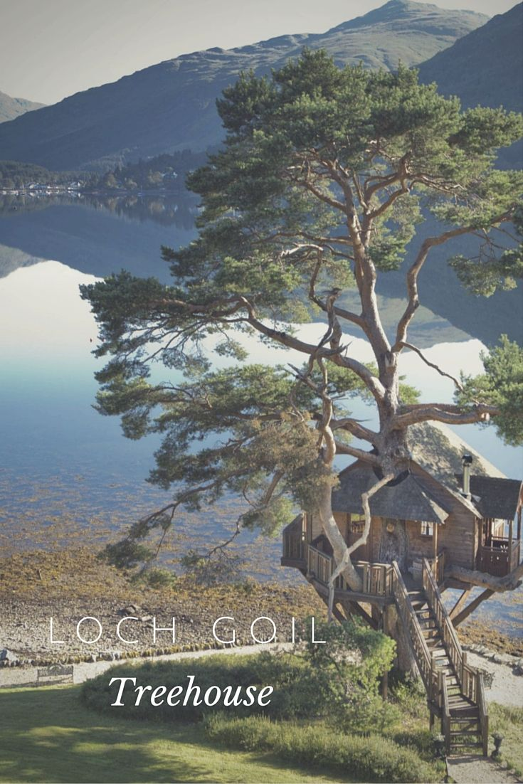 The Treehouse at The Lodge on Loch Goil – a stunning treehouse perched at the edge of the Scottish Highlands loch, overlooking the mountains for an incredible view.