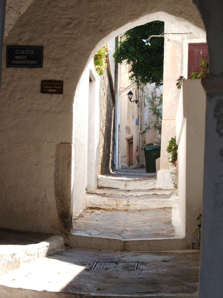 Chora - the old town of Naxos - you never know what may be around the next corner...