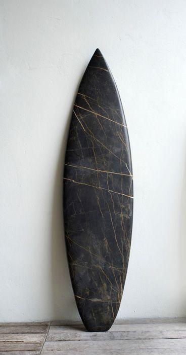 Reena Spaulings marble surfboard.